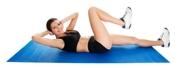 flat stomach exercises for women at home