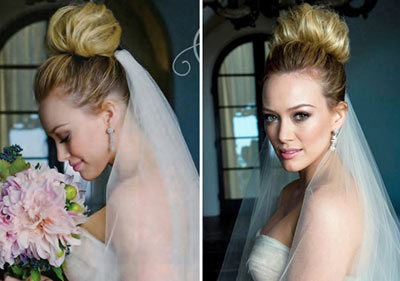hilary duff wedding hair