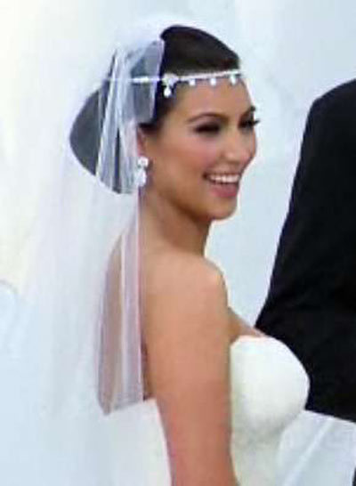 kim kardashians wedding day