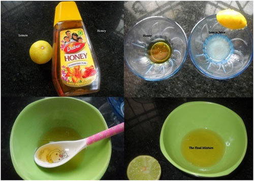 lemon juice and honey mix for oily skin