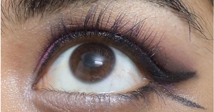 Фиолетовый Макияж Глаз-Нанесите Белый Цвет