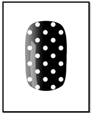 Black and White Nail Art Designs - polka dots nail art