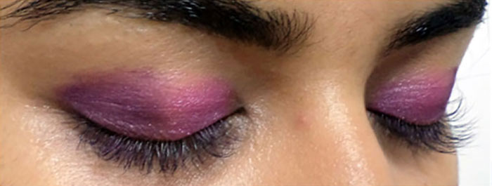 Pink And Purple Eye Makeup Tutorial - Step 3: Apply Purple Shade