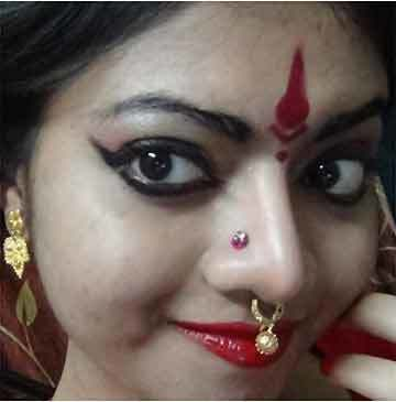 Bharatanatyam Makeup - Nose Decoration