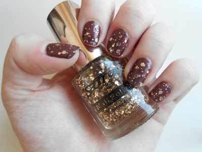 saffron glitter nail polish