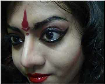 Cheeks Makeup For Bharatanatyam
