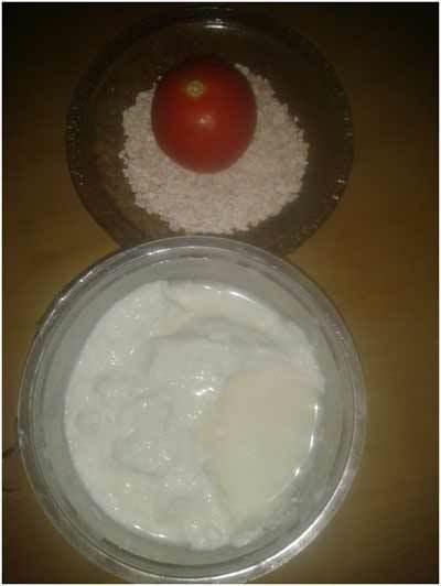 yogurt and oatmeal mask