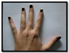 Black and White Nail Art Designs - two tone french manicure