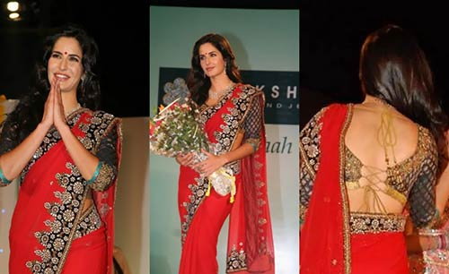 Katrina Kaif In Red Saree