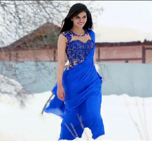 Kriti Sanon In Blue Saree