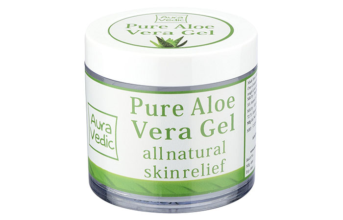 1. Auravedic Pure Natural Aloe Vera Gel
