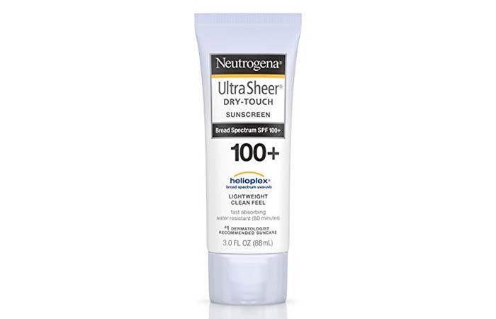 1. Neutrogena UltraSheer Dry-Touch Sunscreen Broad Spectrum SPF 100+