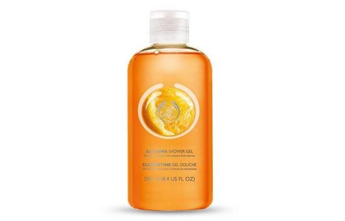 1. The Body Shop Satsuma Shower Gel