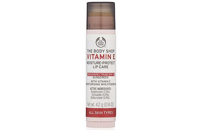 1. The Body Shop Vitamin E Lip Care SPF 15