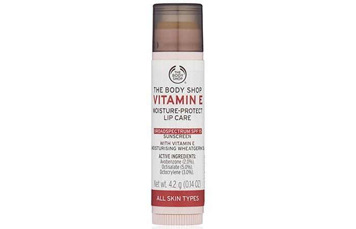 1. The Body Shop Vitamin E Lip Care SPF 15