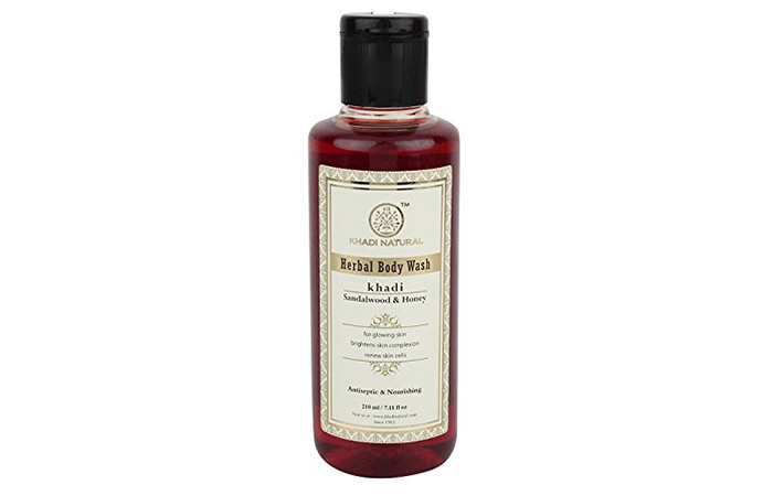 10. Khadi Herbal Sandalwood And Honey Body Wash