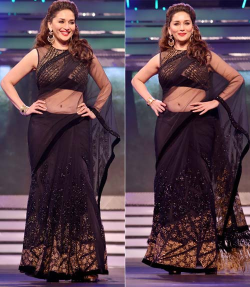 Madhuri Dixit In Black Saree