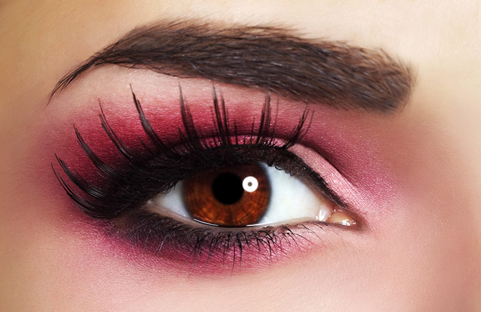 Sexy Eye Makeup Pics - Bright Pink Eye Makeup Look