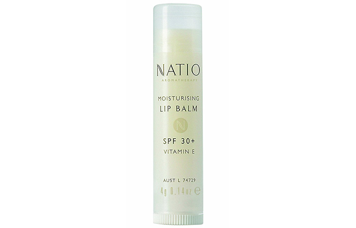 10. Natio Aromatherapy Moisturizing Lip Balm