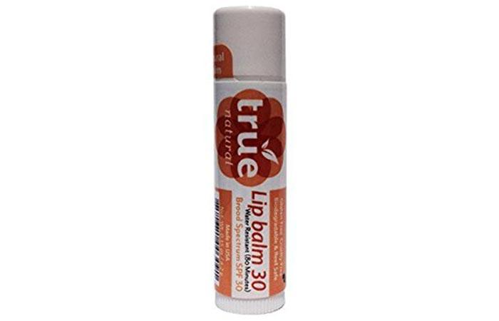 10. True Natural Lip Balm SPF 30
