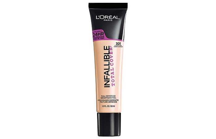 Best High Coverage Foundations - 11. L'Oreal Paris Infallible Total Cover Foundation
