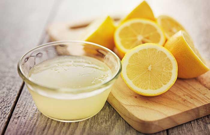 11. Lemon Juice For Peeling Skin