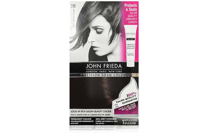 13. John Frieda Precision Foam Color – Deep Brown Black