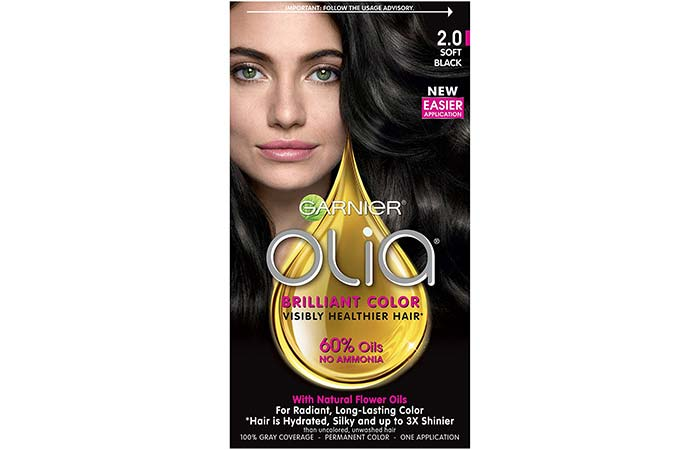 14. Garnier Olia Brilliant Color – Soft Black