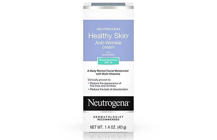 2. Neutrogena Healthy Skin Anti-Wrinkle Cream With SPF 15