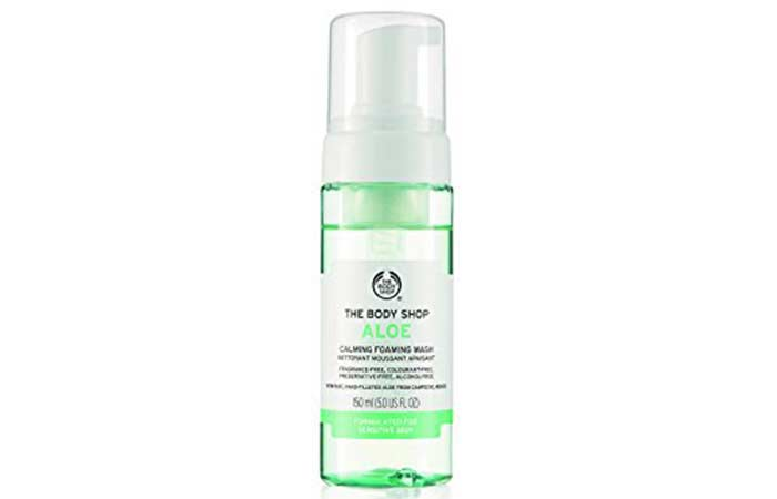 2. The Body Shop Foaming Aloe Vera Facial Wash