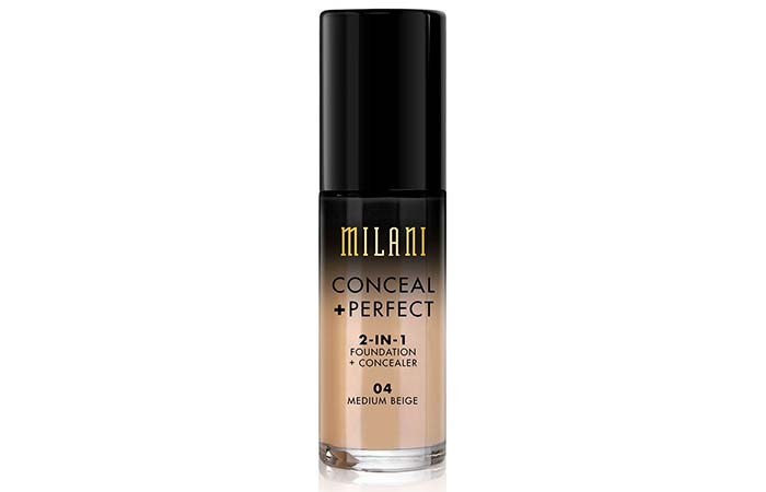 Best High Coverage Foundations - 3. Milani Conceal + Perfect 2-In-1 Foundation + Concealer