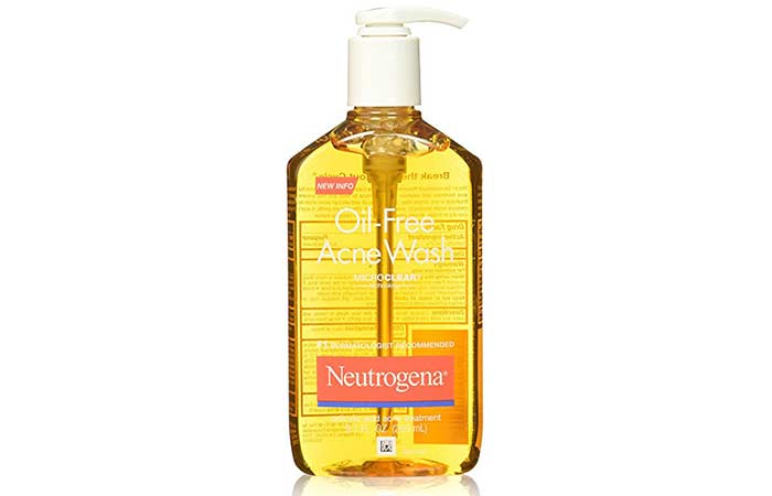 3. Neutrogena Oil Free Acne Face Wash