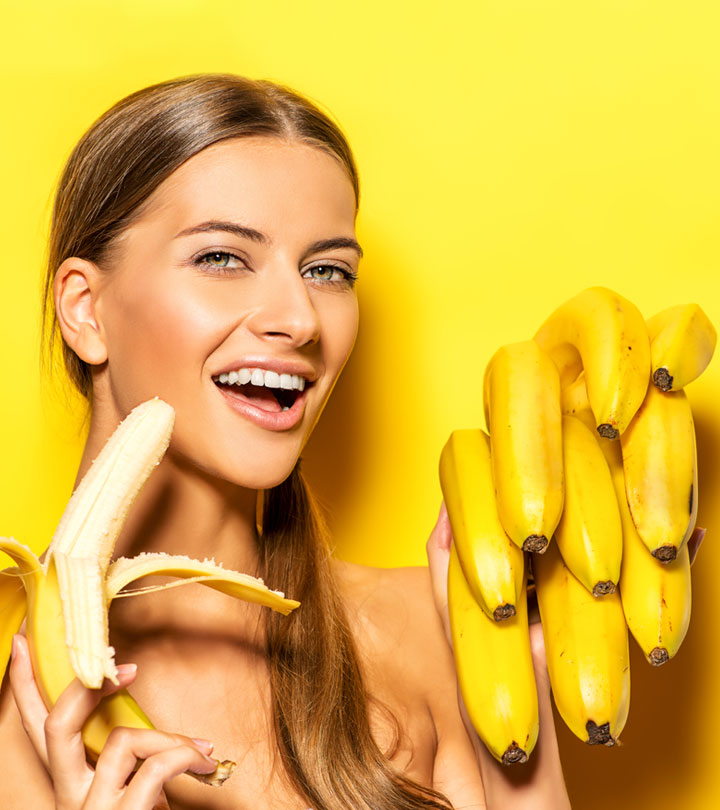 Girl Peels Banana With Feet