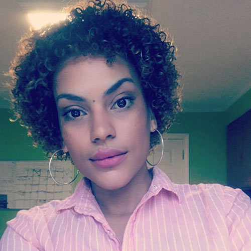 4. Short Dominican Curls