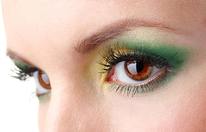 Sexy Eye Makeup Pictures - Yellow and Green Eye Makeup Look