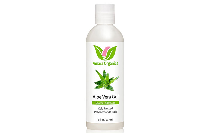 5. Amara Organics Aloe Vera Gel from Organic Cold Pressed Aloe