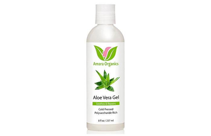 5. Amara Organics Aloe Vera Gel from Organic Cold Pressed Aloe