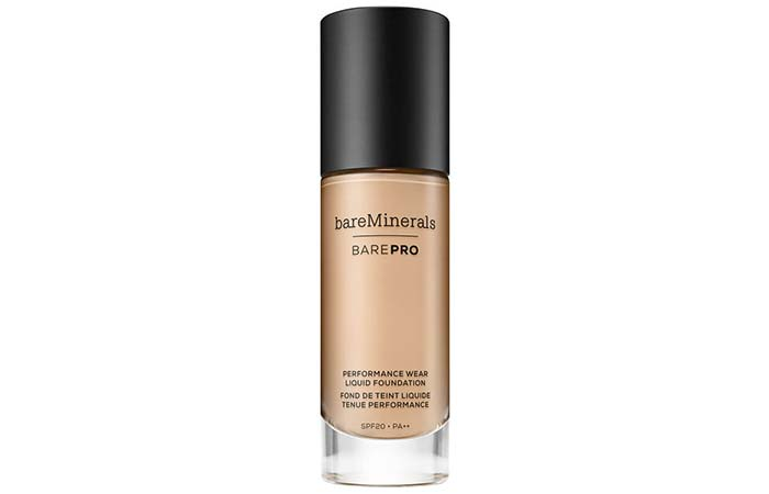 Best High Coverage Foundations - 5. Bare Minerals BarePro Performance Wear Liquid Foundation