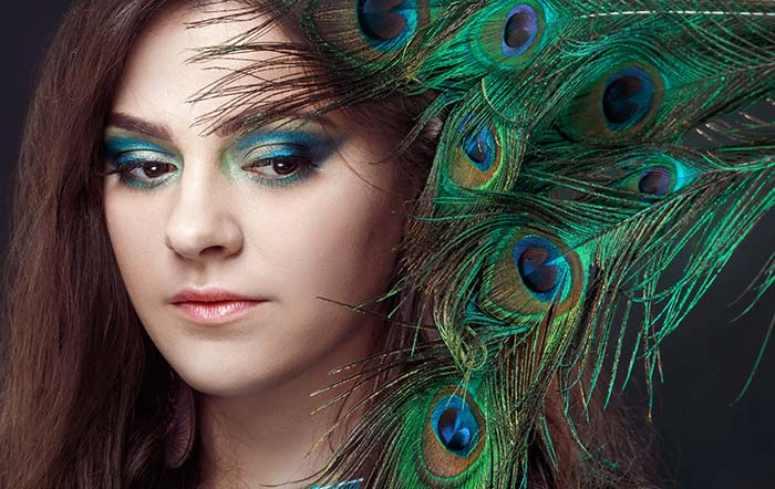 Sexy Eye Makeup Pictures - Peacock Eye Makeup Look