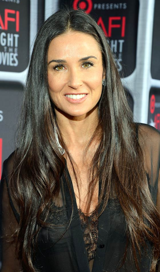 Demi Moore's Enticing Signature Hairstyle