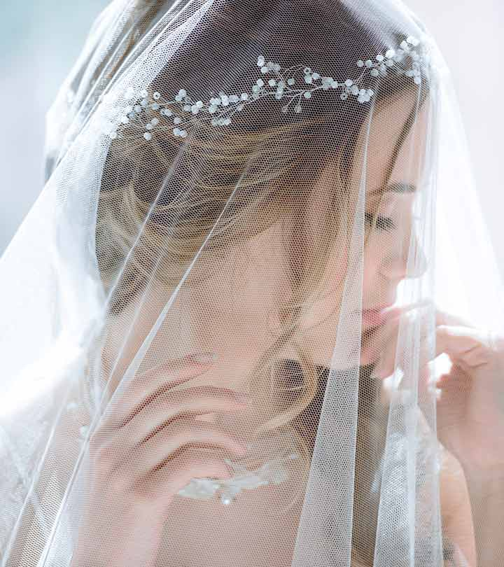 Shutterstock Save 50 Veil Bridal Hairstyles For Your Wedding Day Riddhi Jholapara Stylecraze