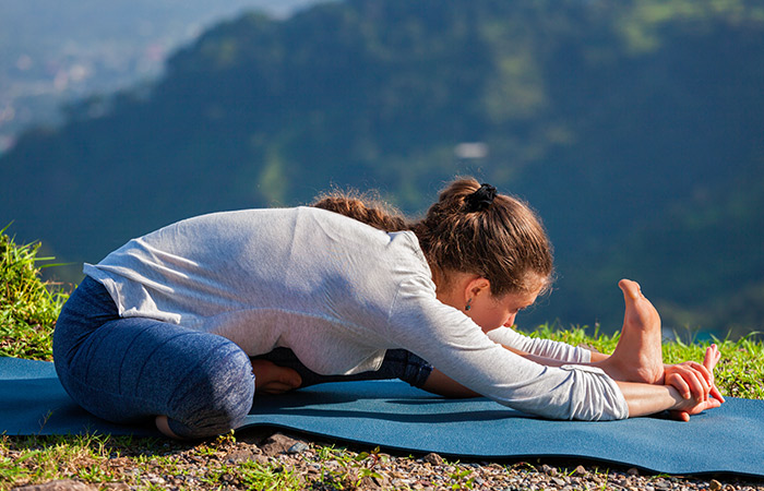 Janu Sirsasana - Yoga for Skin Problems