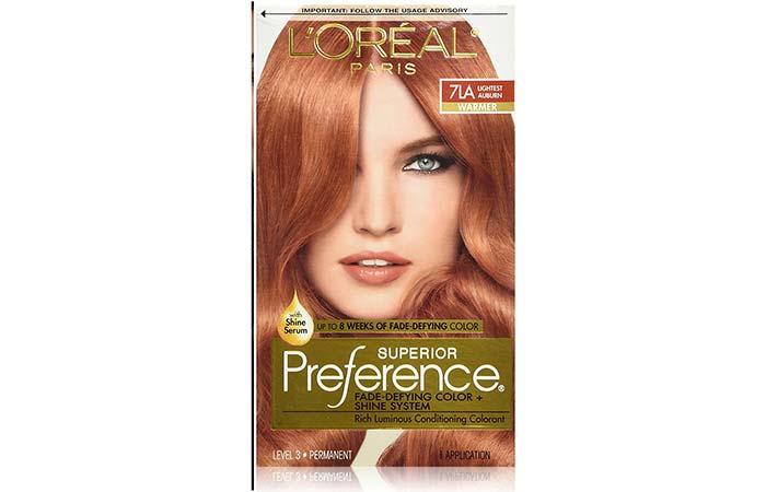 6. L'Oreal Paris Superior Preference Color – Lightest Auburn