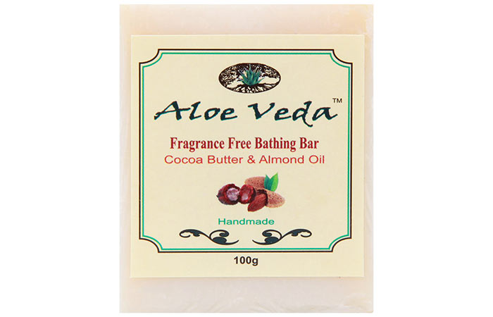 7. Aloe Veda Fragrance-Free Bathing Bar Cocoa Butter & Almond Oil