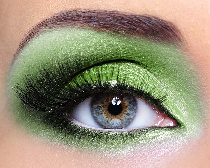 Beautiful Eye Makeup Pics - Electric Green Eyes Look