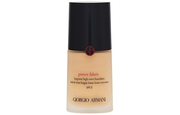 Best High Coverage Foundations - 7. Giorgio Armani Power Fabric Longwear High Cover Foundation SPF 25