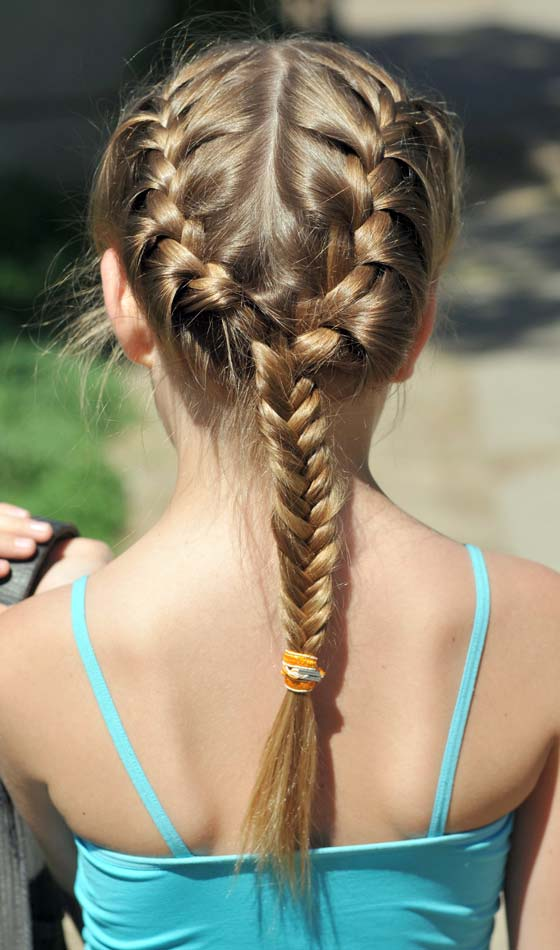 7.Triple-Braid-and-a-Long-Pony-Hairstyle