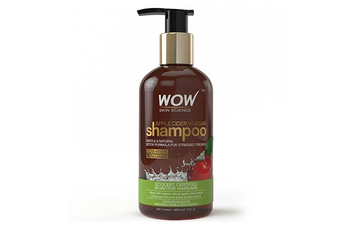 8. WOW Apple Cider Vinegar Shampoo