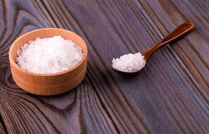 9. Epsom Salt For Peeling Skin