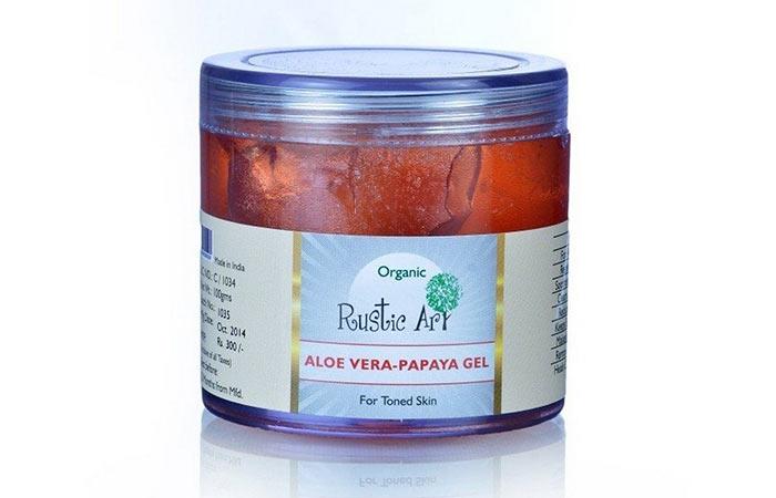 9. Rustic Art Organic Aloe Vera Papayya Gel
